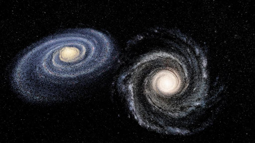 Андромеда и Млечният път, сблъсък