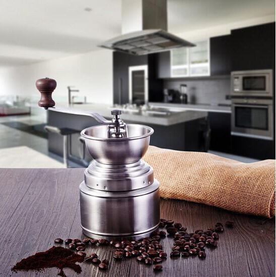 Ručni pogon Cilindrični mlinac za kavu Fotografija
