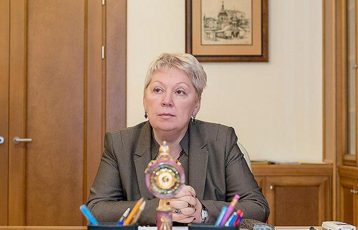 ministri za izobraževanje rusije