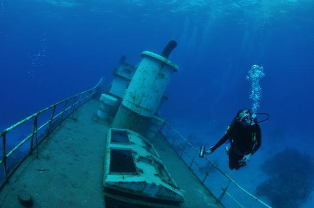 fotografija na dnu mora