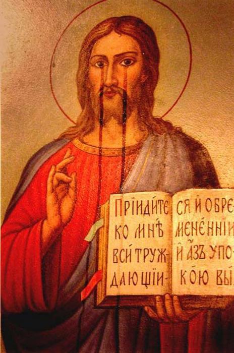 le icone piangono nelle chiese