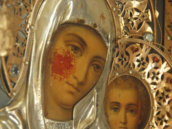 icona piangente di dio