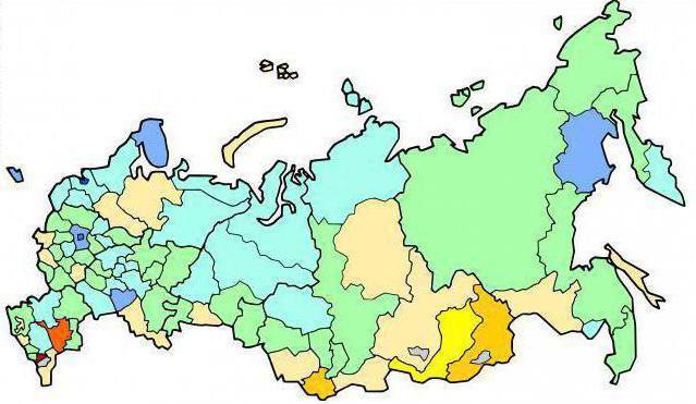 divisione amministrativa territoriale della Russia
