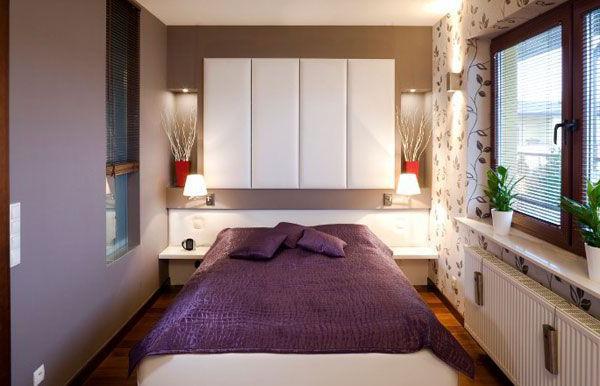 Design moderno di una piccola camera da letto