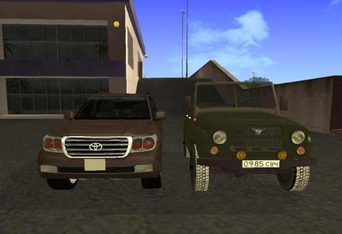 GTA kódy pro ruské automobily