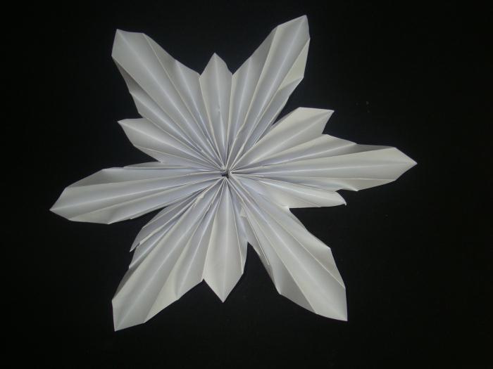 fiocchi di neve origami modulari