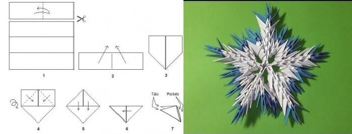 master class di origami snowflake modulari