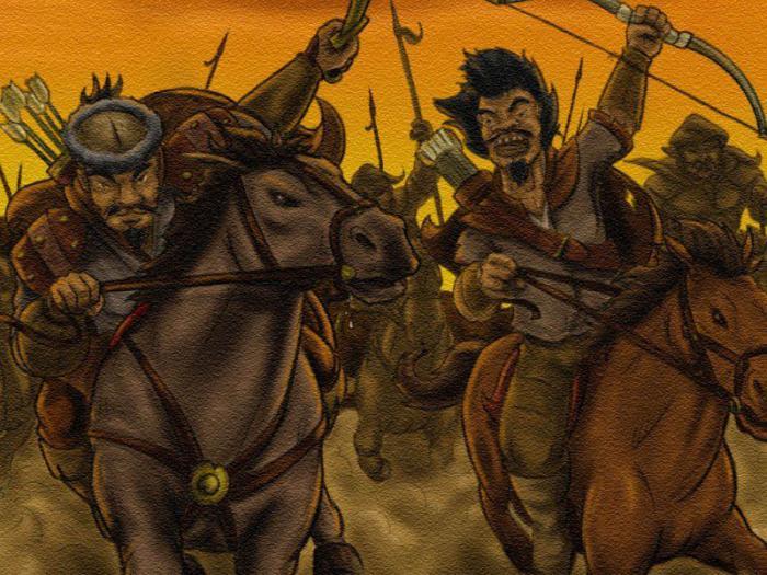 confronto della Russia Mongolo Tatar invasione
