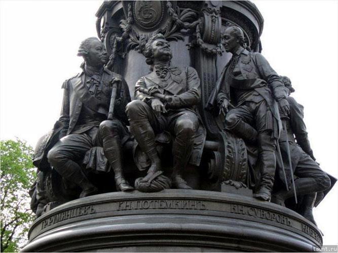 Catherine's Monument 2 na fotografiji v St. Petersburgu