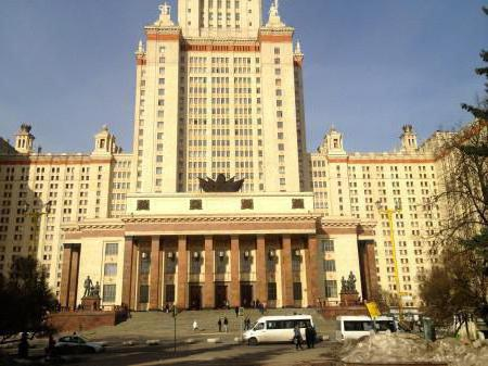 elenco delle università a Mosca con i posti di bilancio