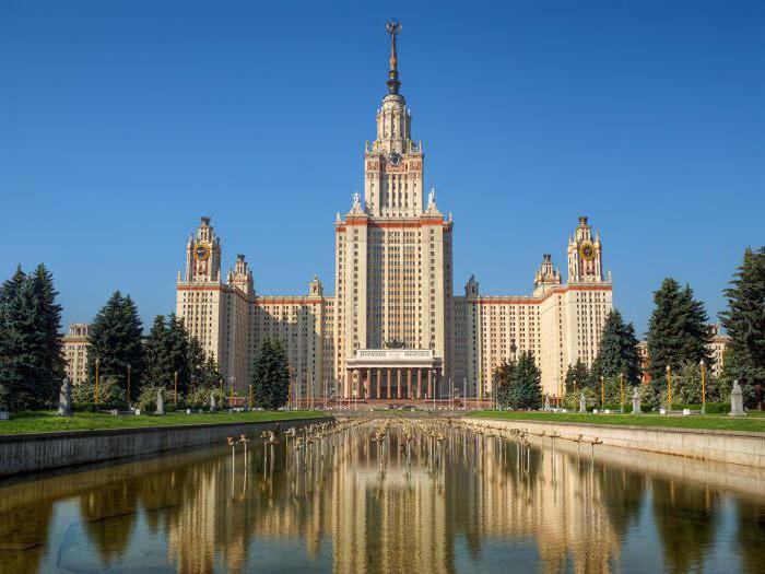Università di Mosca con elenco 2017 di posti a basso costo