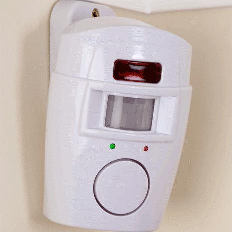 sistema di allarme per casa con sensore di movimento