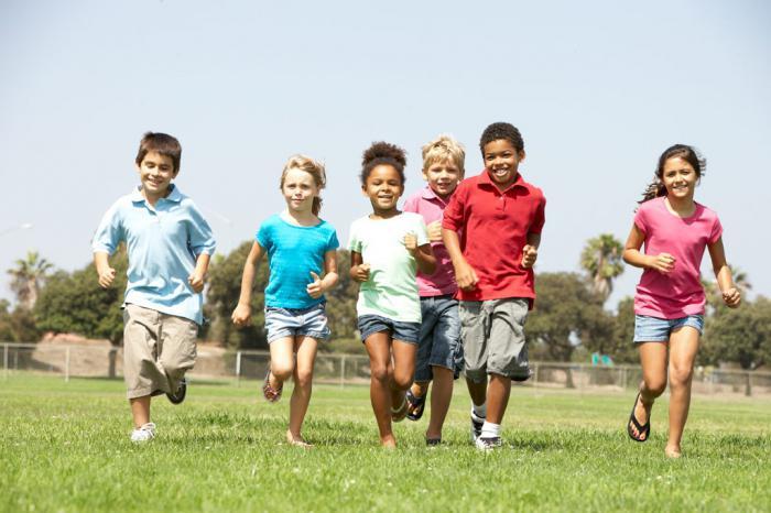 attività motoria dei bambini in età prescolare