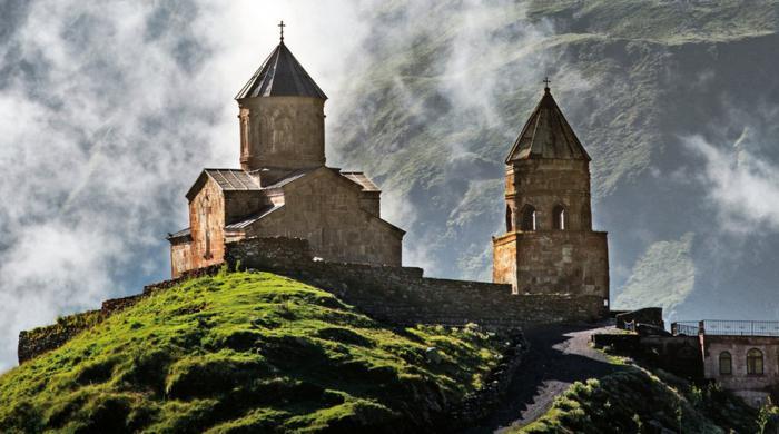 Kavkaška planina Kazbek fotografija