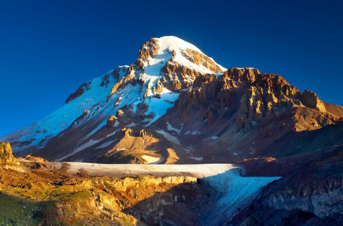 Opis planine Kazbek