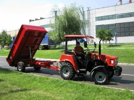 tehnične specifikacije za mini traktorje