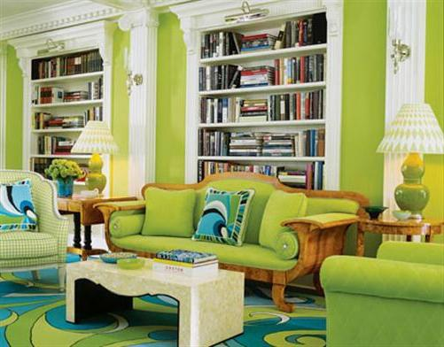 Colore verde all'interno