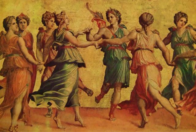 musa dell'arte antica della Grecia