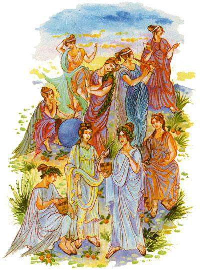 Имена на 9-те Музи от Древна Гърция