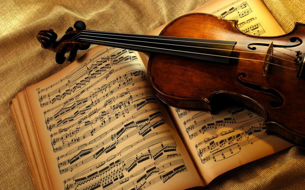 Spartito e violino