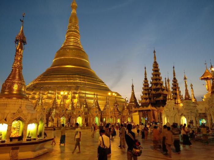 Opis seznama atrakcij Mjanmara