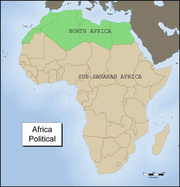mappa del nord africa