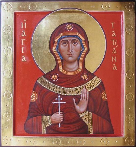 Nome giorno Tatyana sul calendario della chiesa