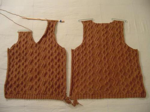 плетене модел без ръкави