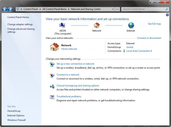 connessioni di rete windows 7