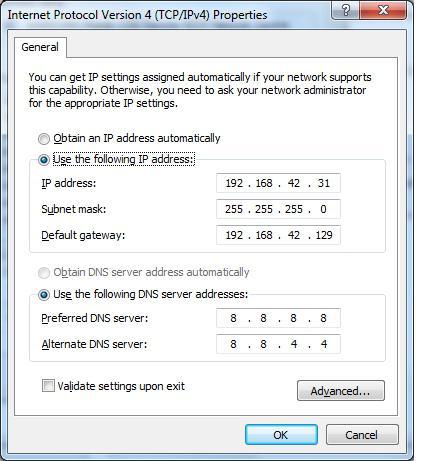 connessioni di rete windows