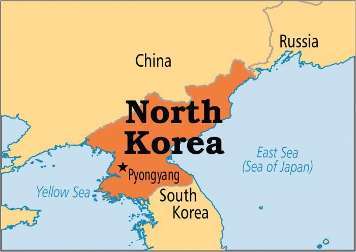 karta Sjeverne Koreje