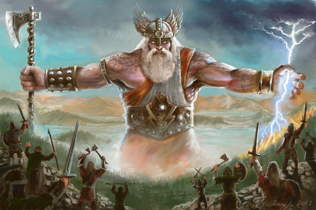 Bog groma in strele Perun