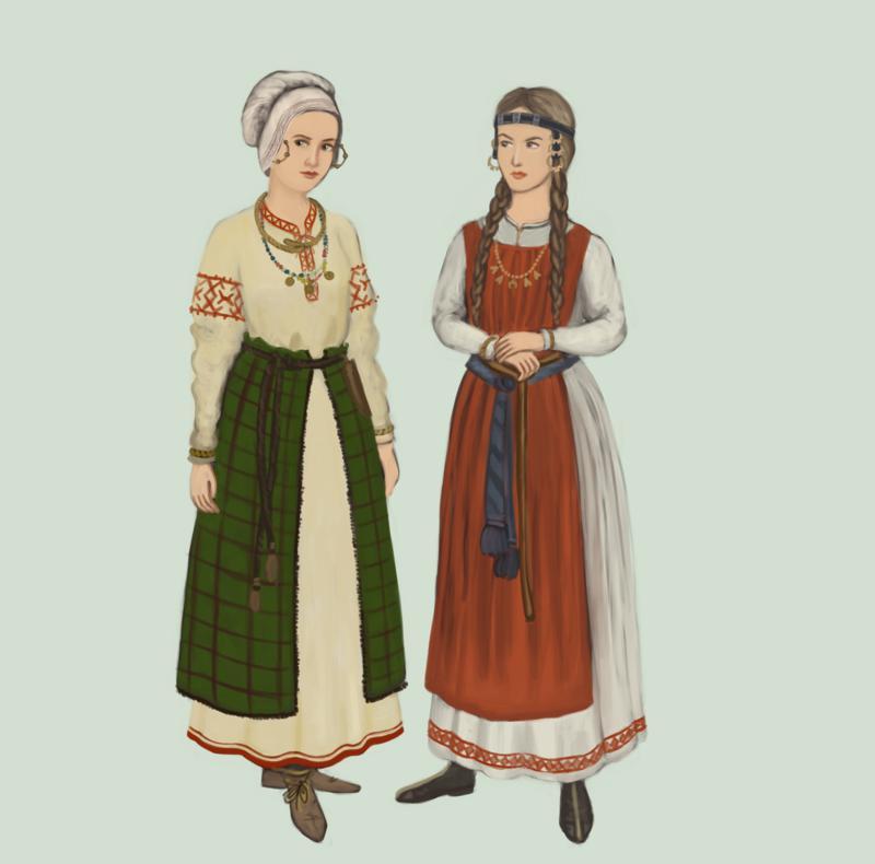 Ženska oblačila iz starodavne Rusije