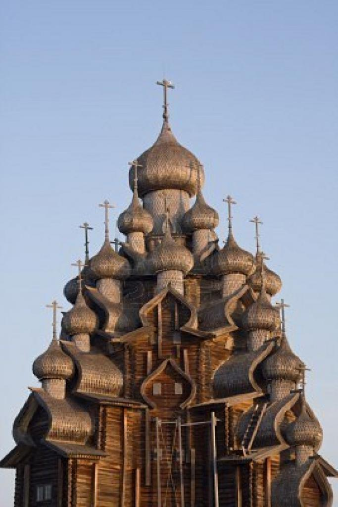 Pravoslavna cerkev z več kupolami (stara ruska arhitektura)