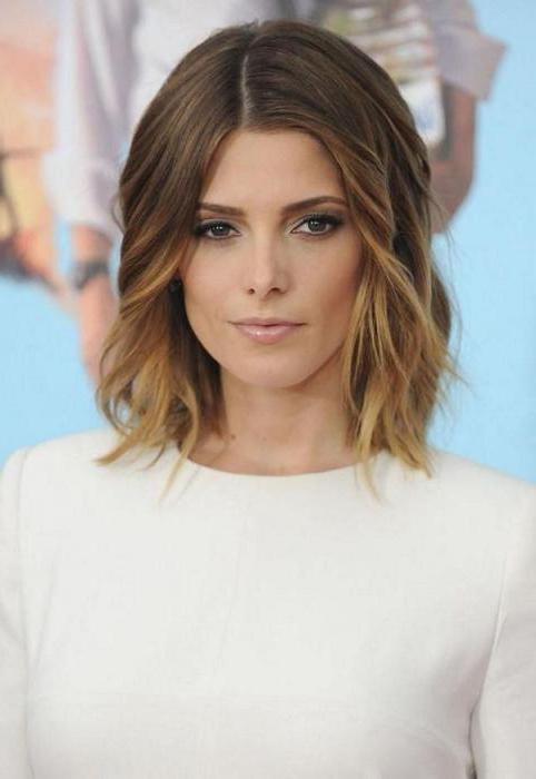 ombre na średnich włosach