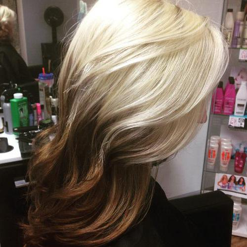 Ombre na średniej długości włosach