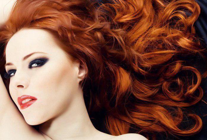 ombre na červené vlasy