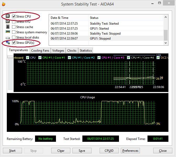 Controllo della temperatura del processore e della scheda video