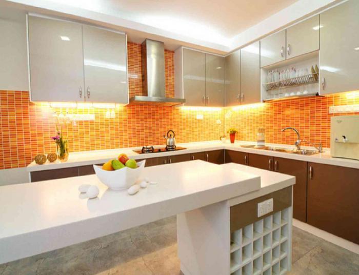 design cucina arancione