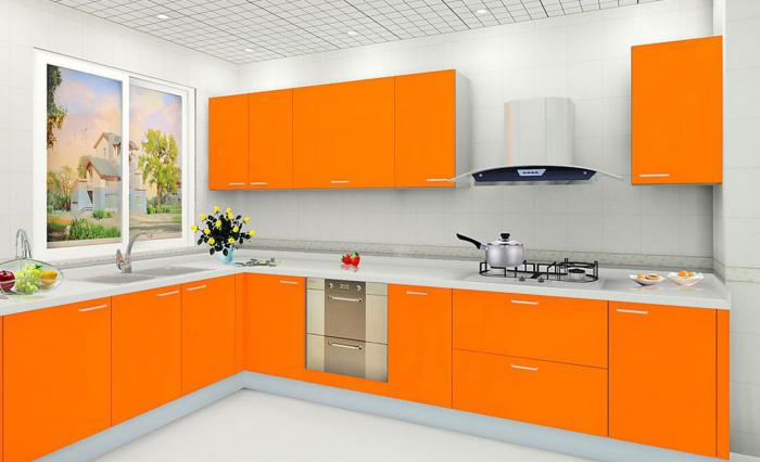 cucina arancione