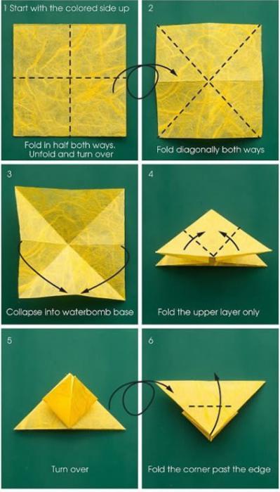 schema a farfalla origami