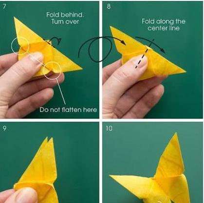 istruzione di farfalla origami