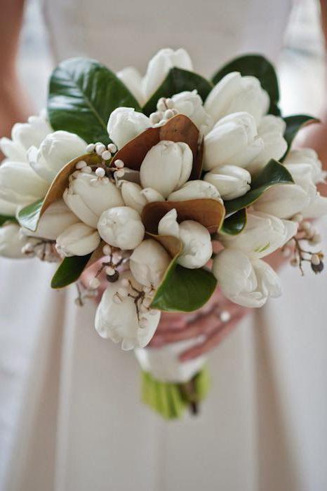 vjenčani buket tulipana napravite sami