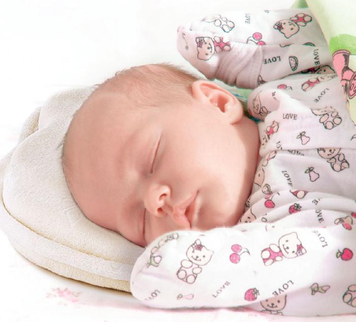ortopedski vzglavnik za novorojenčke