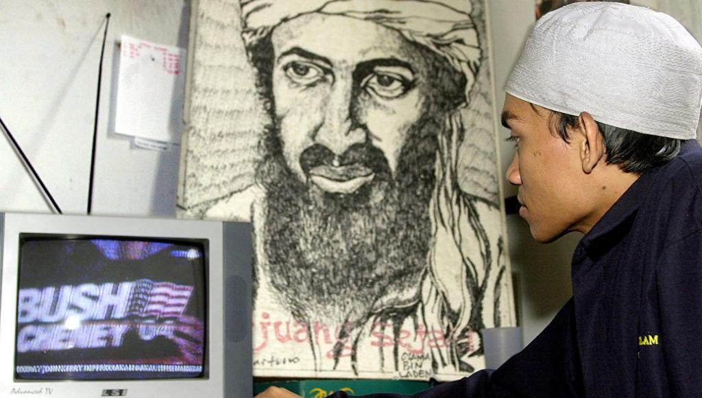Осама бен натоварени мустаци