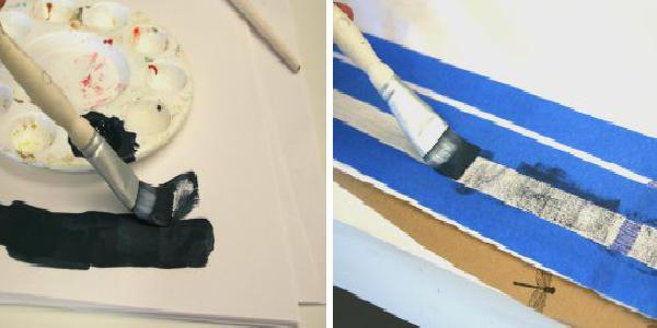 pittura su tessuto con colori acrilici
