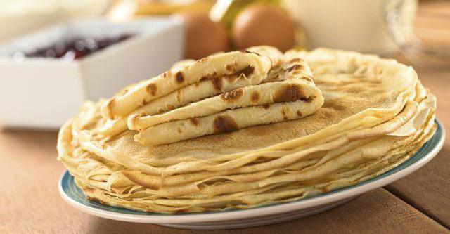 pancake bolliti con latte e acqua bollente