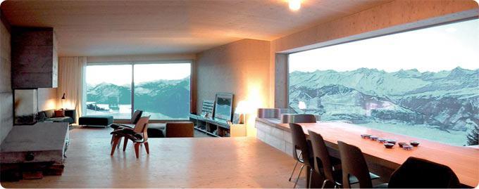 panoramski prozori u privatnoj kući
