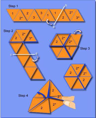jak vyrobit flexagon 10 trojúhelníků
