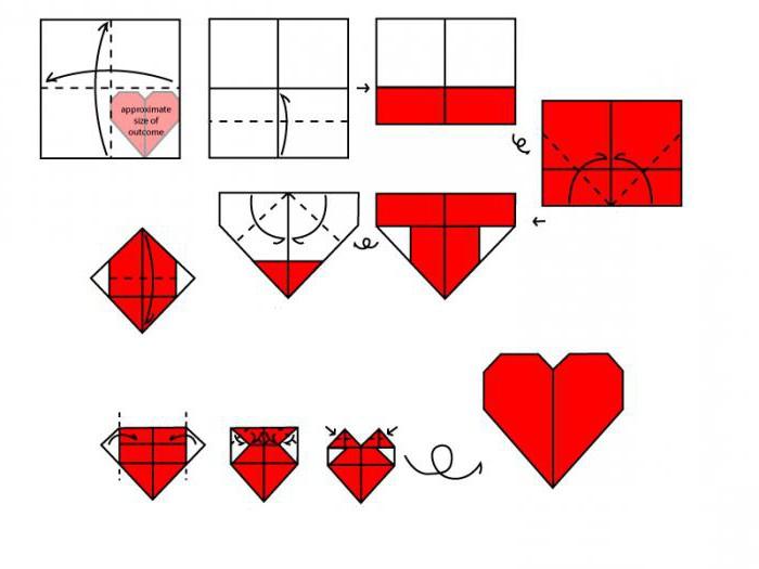origami iz papirja srca to storite sami